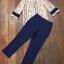 พร้อมส่ง เสื้อกับกางเกงสีน้ำเงิน-กรม thumbnail 10