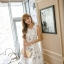 เดรสเกาหลี พร้อมส่ง เดรสผ้าซาตินเนื้อนิ่ม เงาสวย thumbnail 8