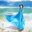 ชุดเดรสเกาหลี พร้อมส่ง เดรสยาว สีน้ำเงินเข้ม สีสวย คอปก thumbnail 4