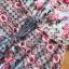 ชุดเดรสเกาหลี พร้อมส่ง เดรสยาว เครปสีฟ้า ลายดอกไม้สีชมพู thumbnail 15