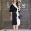 เดรสเกาหลี พร้อมส่ง Long Dress เดรสทูโทน ตัวยา thumbnail 11