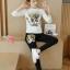 เสื้อผ้าเกาหลี พร้อมส่ง เซต 2 ชิ้น งานgucci thumbnail 4