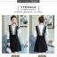 เดรสเกาหลี สีดำ พร้อมส่ง กระโปรงทรงเอ thumbnail 4