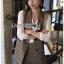 เสือผ้าแฟชันเกาหลี พร้อมส่ง เซ็ตเสื้อสูทลายสก๊อต thumbnail 5