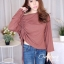 เสื้อเกาหลี สีพื้นดีไซน์สุดเก๋ พร้อมส่ง thumbnail 12