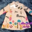 พร้อมส่ง เสื้อเนื้อสี Pink Gold ประกายทองปักดอกไม้ ตุ๊กตา thumbnail 4