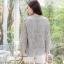 เสื้อเกาหลี พร้อมส่ง เสื้อคอกลม แขนบาน thumbnail 3