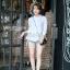 เสื้อเกาหลี คอปีนแขนสามส่วน พร้อมส่ง thumbnail 5