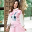 เสื้อเกาหลี พร้อมส่ง จั้มเปอร์ฮู้ด ลายกระต่าย thumbnail 6