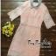 ชุดเดรสเกาหลี พร้อมส่ง เดรสผ้าลูกไม้ลายดอกไม้ thumbnail 9