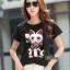 เสื้อเกาหลี พร้อมส่ง T-Shirt ลายแมว thumbnail 3