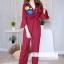 เสื้อผ้าเกาหลี พร้อมส่ง ชุดจั้มขายาว ลายดอกสีคมชัด thumbnail 8