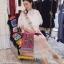ชุดเดรสเกาหลี พร้อมส่ง เดรสยาว ผ้าตาข่าย ระบายถึง 3 ชั้น thumbnail 6