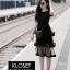 เดรสเกาหลี พร้อมส่ง Mini dress ระบายชีทู 3 ชั้น thumbnail 1