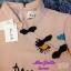 พร้อมส่ง เสื้อเนื้อสี Pink Gold ประกายทองปักดอกไม้ ตุ๊กตา thumbnail 5