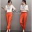 พร้อมส่ง ชุดเซตเสื้อกับกางเกงสีส้ม thumbnail 3