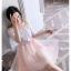 เดรสเกาหลี พร้อมส่ง ชุดเดรส ตัวเสื้อผ้าลูกไม้ลายดอกไม้ thumbnail 2