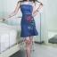 เดรสเกาหลี พร้อมส่ง เดรสยีนส์ ผ้าเดนิมสีเข้ม thumbnail 8