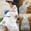 ชุดเดรสเกาหลี สีขาวผ้าชีฟอง พร้อมส่ง thumbnail 8