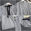 เสื้อเกาหลี ผ้าโพลี ลายริ้วตรง พร้อมส่ง thumbnail 4