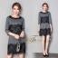 ชุดเดรสเกาหลี พร้อมส่ง Dress คอกลม แขนยาว thumbnail 2