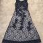 พร้อมส่ง Long dress แขนกุดผ้ามุ้งสีกรม สองชั้น thumbnail 10