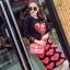 เสื้อผ้าเกาหลี พร้อมส่ง เสื้อกับกระโปรง สไตล์ Moschino thumbnail 2