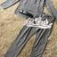 เสื้อผ้าเกาหลี พร้อมส่ง เสื้อคอจีนกับกางเกงเอวสม็อค thumbnail 12