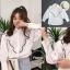 เสื้อเกาหลี พร้อมส่ง เสื้อเชิ้ต แขนพองทรงบอลลูน thumbnail 1