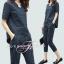 เสื้อผ้าเกาหลี เสื้อคอวี+กางเกงขายาว 7 ส่วน thumbnail 4