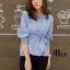 เสื้อเกาหลี แขนจั๊มพอง พร้อมส่ง thumbnail 10