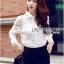 พร้อมส่ง เสื้อแฟชั่น เสื้อเกาหลี เชิ้ตขาวผ้าตาข่าย thumbnail 3
