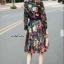 เสื้อผ้าเกาหลี พร้อมส่ง เสื้อ+กระโปรง ลายดอกไม้ thumbnail 8