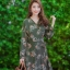ชุดเดรสเกาหลี พร้อมส่ง Maxi Dress ป้ายหน้า thumbnail 3