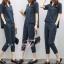 เสื้อผ้าเกาหลี เสื้อคอวี+กางเกงขายาว 7 ส่วน thumbnail 2