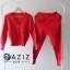 เสื้อผ้าเกาหลี พร้อมส่ง ชุดเซ็ทเสื้อคลุม+กางเกง thumbnail 4