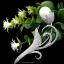 พร้อมส่ง เข็มกลัดดอกไม้เพชร งานเพชร CZ แท้ thumbnail 1