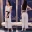 เสื้อผ้าเกาหลี พร้อมส่ง จั้มสูทผ้าลูกไม้เถาวัลย์ 3D thumbnail 1