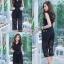 เสื้อผ้าแฟชั่นเกาหลี Jump Suit คอวี พร้อมส่ง thumbnail 3
