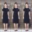เดรสเกาหลี พร้อมส่ง Sleeveless V Dress เว้าไหล่ thumbnail 1