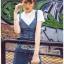 เสื้อผ้าเกาหลี พร้อมส่ง เอี้ยมกระโปรงยีนส์์ thumbnail 4