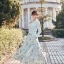 ชุดเดรสเกาหลี พร้อมส่ง เดรสยาว กระโปรงพิมพ์ลายดอกไม้ thumbnail 2