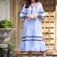 ชุดเดรสแฟชั่น พร้อมส่ง Dress ผ้าฝ้ายลายริ้ว thumbnail 2