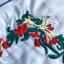 เสื้อผ้าเกาหลี พร้อมส่ง เสื้อเชิ้ตลายทางปักลายดอกไม้ thumbnail 9