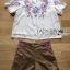 พร้อมส่ง เสื้อและกางเกงปักลายดอกสีสดใส thumbnail 8