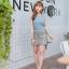 เสื้อผ้าเกาหลี พร้อมส่ง ชุดเซต เสื้อ+กระโปรง thumbnail 2
