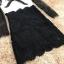 พร้อมส่ง เดรสผ้าลูกไม้เนื้อดีตัวเสื้อสีขาว thumbnail 12