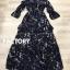 ชุดเดรสเกาหลี พร้อมส่ง Maxi Dress ปาดไหล่สม็อก thumbnail 4