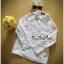 พร้อมส่ง เชิ้ตขาวสุดน่ารัก คอปกเป็นดอกไม้เซาะลายโชว์ให้เห็นดอกไม้ thumbnail 6