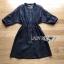 เดรสเกาหลี พร้อมส่ง เชิ้ตเดรส ผ้าคอตตอนสีน้ำเงิน thumbnail 12